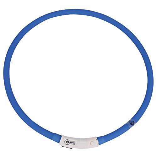 iEFiEL Hunde Leuchthalsband Universell Kürzbar LED Hundehalsband Leuchtband Leuchtschlauch Blink Hundehalsband 70cm, Aufladen per USB, 3 Modell Blink, Wasserdicht (One Size, Blau) - 3
