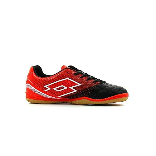 Lotto Spider 700 Xiii Id Jr, Chaussures de football en salle mixte enfant Noir (noir / rouge chaud (warm red))
