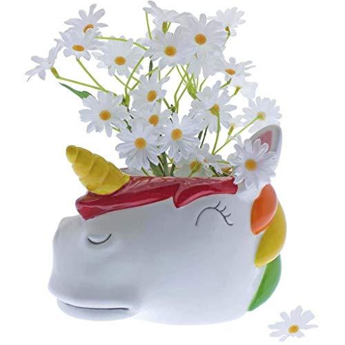 Rainbow Einhorn Keramik Behälter Blumentopf Übertopf