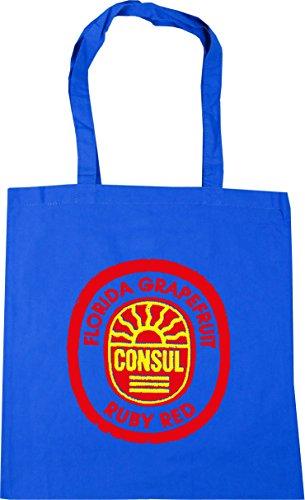 HippoWarehouse Florida Gfruit Consul Ruby Red Label Tote Shopping Gym Beach Bag 42cm x38cm, 10 litres