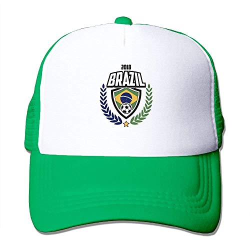 Unisex 2018 Brazil Football Trucker Baseball Mesh Cap Adjustable Hat fitted caps Ohio Mesh Cap