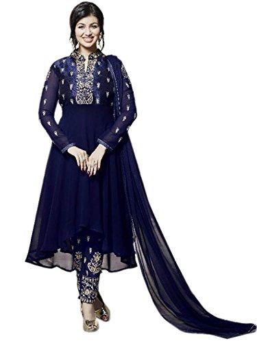 Shoppingover New Bollywood Design ethnic Indin Salwar Kameez for Women-Blue Color