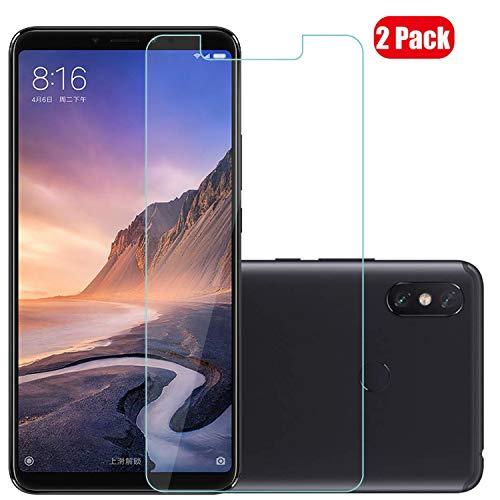 Voviqi Xiaomi Mi Max 3 Panzerglas, 9H verbesserte gehärtetes Glas Folie [Blasenfrei] [Anti-Fingerabdruck] Bildschirmschutzfolie für Xiaomi Mi Max 3, 2 Stück