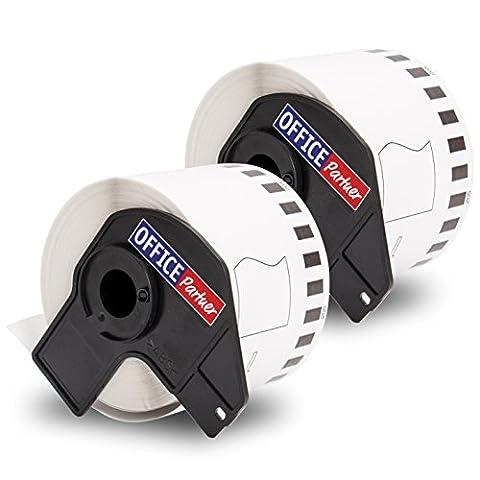 Etiquette Brother - 2x compatibles rouleau papier étiquettes pour BROTHER