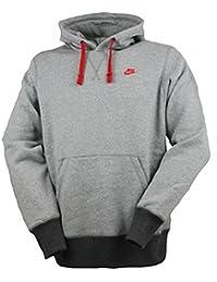 Nike para hombre, color gris, rojo-Sudadera polar con capucha Gris gris Talla:medium