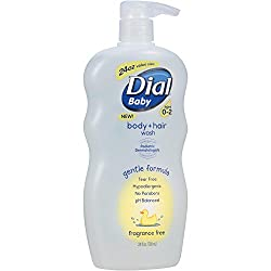 Dial Baby Body and Hair Wash, Ages 0-2, No Parabens, Fragrance Free (24 fl oz)