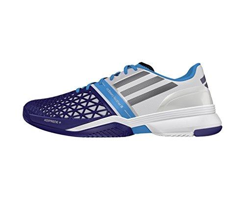 Herren Tennisschuhe CC adizero feather III weiss / blau