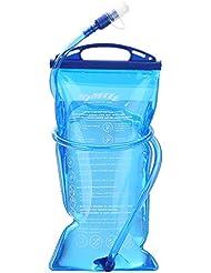 Kimlee Poche Hydratation Portable 1,5 litres, Poche a Eau Réservoir d'eau de Sport Sacs à Dos d'hydratation pour Sport Randonnée Camping Escalade Randonnée de Cyclistes