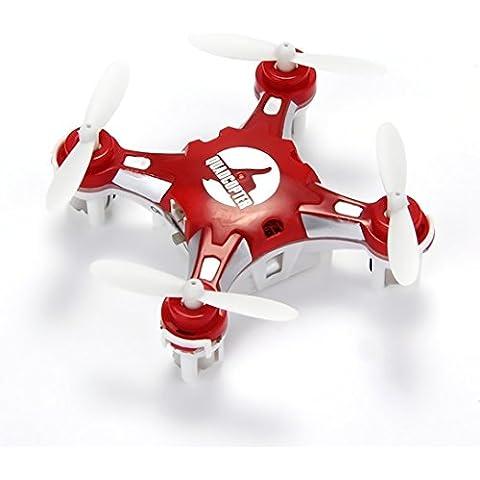 Senioroy Mini Drone Nano Cuadricópteros RTF - 4 Canales 6 Ejes Gyro 360 Grados 2.4G RC Minicóptero con Luz LED (Rojo)