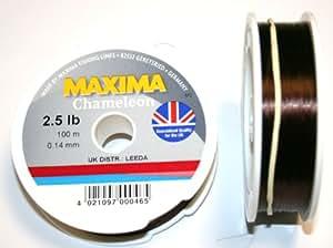 Maxima chameleon fishing line 100 metre spool for Amazon fishing line