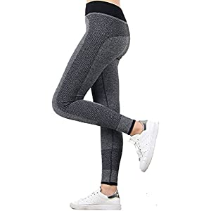 U.S. CROWN Women's Stretchable Yoga Pant Gym Legging Tights (Waist: 22″ to 32″ Length: 35″)