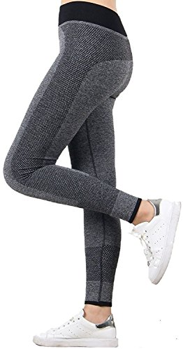 U.S. CROWN Women's High Quality Stretchable Yoga Pant Gym legging Tights ( Waist: 22″ to 32″ Length: 35″ )