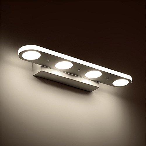 ZHMA Luce specchio per trucco 12W, Lampada per specchio da bagno a LED acrilico, Illuminazione per trucco anteriore a specchio, Lampada da parete, Lampada frontale per bagno, Bianco freddo, Consumo ridotto