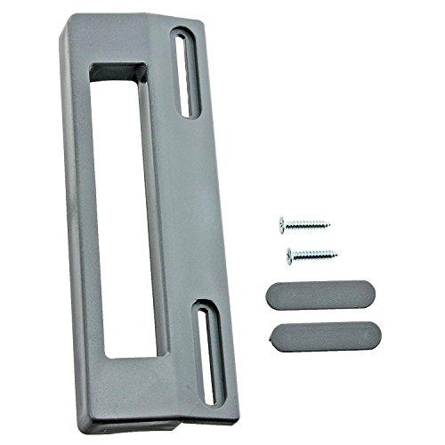 Spares2go tirador de puerta para Miele nevera congelador (190mm, Gris plata)