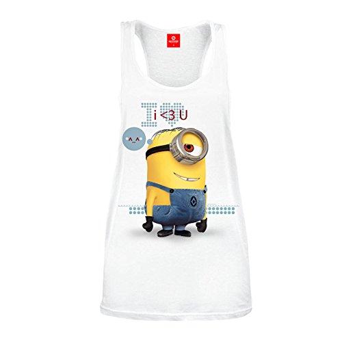 Gru, mi villano favorito - camiseta de tirantes I love you - minion - mujer -...