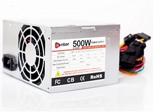 Enter 500 W Computer Power Supply With Power Cord