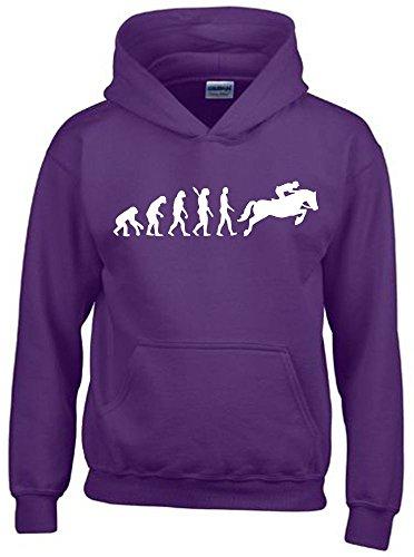 Lila Mädchen Pullover (REITEN Evolution Kinder Sweatshirt mit Kapuze HOODIE lila-weiss, Gr.152cm)