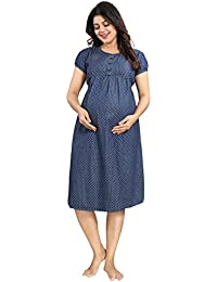 Mamma's Maternity Denim Print Maternity Dress