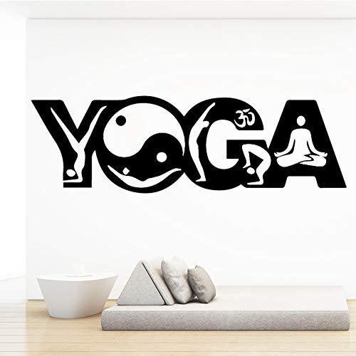 WWYJN Cute Yoga Waterproof Wall Stickers Wall Art Decor for Kids Room Living Room Home Decor Home Party Decor Wallpaper White XL 30cm X 100cm