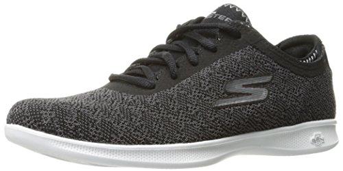 Skechers Go Step Lite, Entrenadores Para Mujer, Negro (Black/White), 40 EU