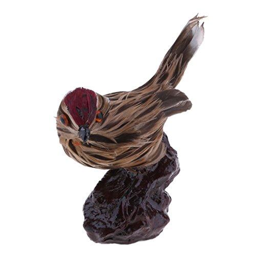 D DOLITY Realistische Künstlicher Gefiederter Vogel Federn Deko Tiere Figur