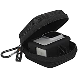 JSVER Étui de Transport pour GoPro Hero 8/7,OSMO Action Case Mini Housses pour Gopro 6/5/4/3 Caméras et Accessoires - Noir