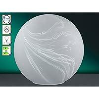 Honsel Leuchte - Lampada da tavolo sferica in vetro, colore: Bianco alabastro