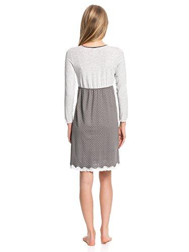 Vive Maria Damen Nachthemd Gray Night Nightdress Grau
