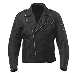 "Australian Bikers Gear Men's Classic Cordura Brando Motorcycle Punk Jacket Size XL uk 42"""