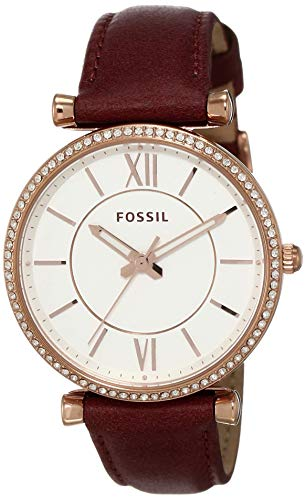 Fossil Carlie Analog Silver Dial Women's Watch - ES4428