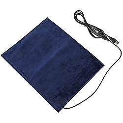 FTVOGUE 5V 2A Calentador Eléctrico de Tela USB Pad Elemento de Calefacción para la Ropa Asiento para Mascotas Calentador 3 Modos Ajustable de Temperatura 24x30cm 45 ℃