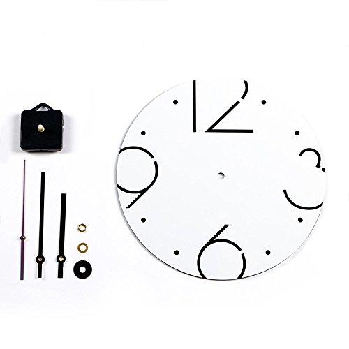 Dxnspf orologio da parete colorato e moderno elegante alla silenzioso senza ticchettio orologio della cucina / della casa / parete del salone 11 pollici