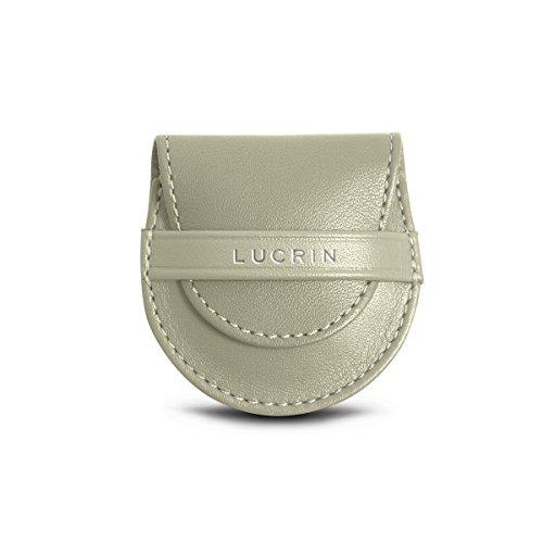 Lucrin - Supporto Tascabile - Pelle Liscia Bianco Rotto