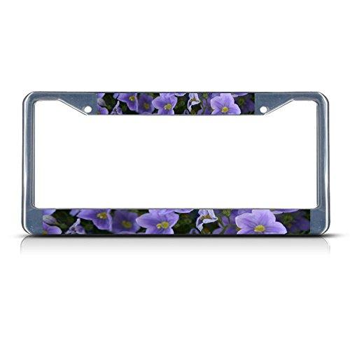 Kennzeichenrahmen für Nummernschild, Leinenblume, aus Metall, ideal für Herren und Damen, für Autos, Dekoration
