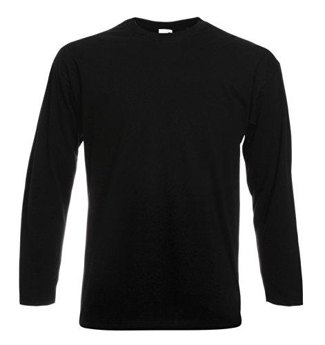 Fruit of the Loom Long Sleeve Value T-Shirt XL Black