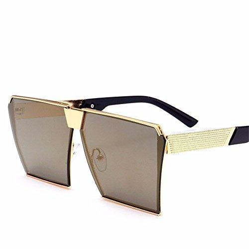 Sonnenbrille/Herren Sonnenbrille/Persönlichkeit runde Gesicht große Rahmen/Sonne Augen, Gold Rahmen Erde Gold