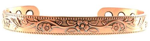 Black Friday Spezialangebot: Kupfer Armband für Arthritis; Magnetfeldtherapie schön Holunderblüte Design; häufigsten zum Tragen für Schmerzen Linderung und magnetisch heilend; auch so ein Zubehör