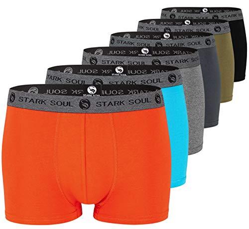 STARK SOUL Herren Boxershorts | Hipster im 6er Pack | Baumwoll-Unterhosen für Männer in Größe L, Gemischt
