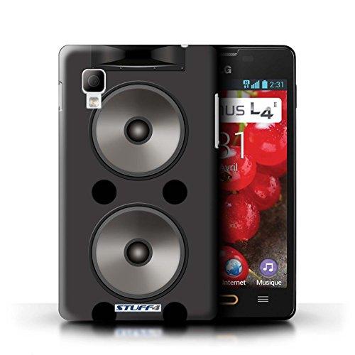 KOBALT® Hülle Case für LG Optimus L4 II/E440   Hifi Entwurf   Lautsprecher Design Kollektion Doppelt
