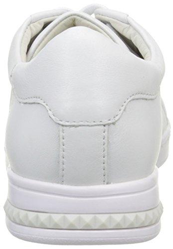 Geox D Jaysen C, Baskets Basses Femme Blanc (C1000)