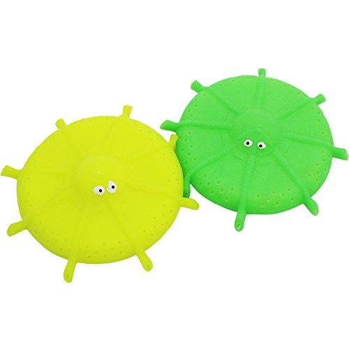 COM-FOUR® 2x Wasser Frisbee, Wasser Wurfscheibe aus Schaumstoff und Silikon, Extra Soft, in knalligen Farben, - Große Frisbee Extra