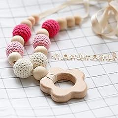 Idea Regalo - Mamimami Home Charms Dell'infermiera Perle Masticabili Teether in Legno Collana di Dentizione Per Mamma Giocattoli per Neonati al Bambino Montessori