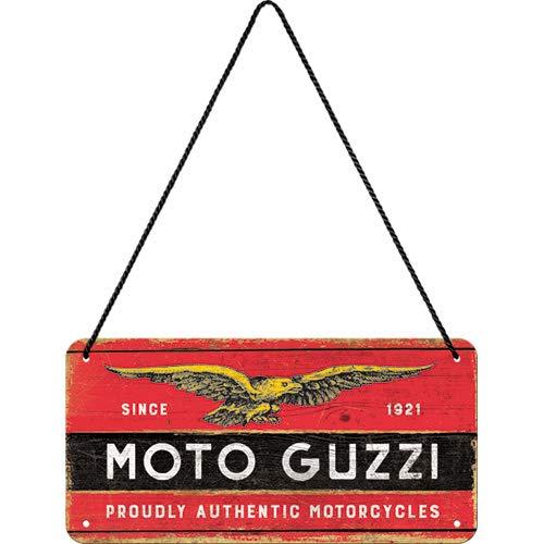 Nostalgic-Art Moto Guzzi-Logo Targhette per Porte, 20x0x10