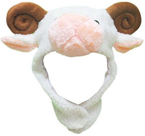 ite Sheep Hat Mask Unisex Dress Up Party Costume for Child (White) ()