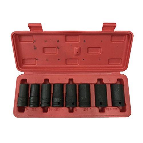 Preisvergleich Produktbild LARS360® 8-tlg Kraft-Schoneinsätze, Schlagschrauber Nüsse Steckschlüssel-Satz, 17 - 27.5 mm, 1/2 Zoll