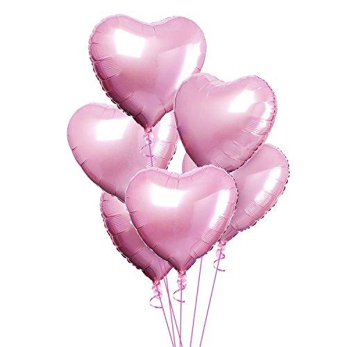 ie Mylar Helium Ballon Geburtstagsfeier Dekoration Folie Ballons 5 Stück (Rosa) (Rosa Folie)