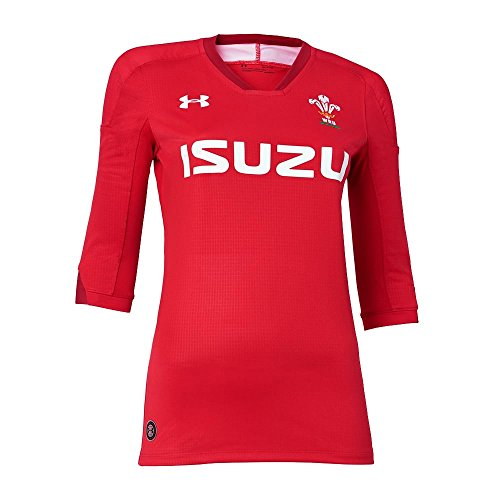 2018-2019 Wales Rugby Home WRU Womens Supporters Shirt (Red) (Damen Rugby Shirt Home)