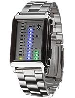 DeTomaso Spacy Timeline G-30723A - Reloj de caballero de cuarzo, correa de acero inoxidable color plata de DeTomaso