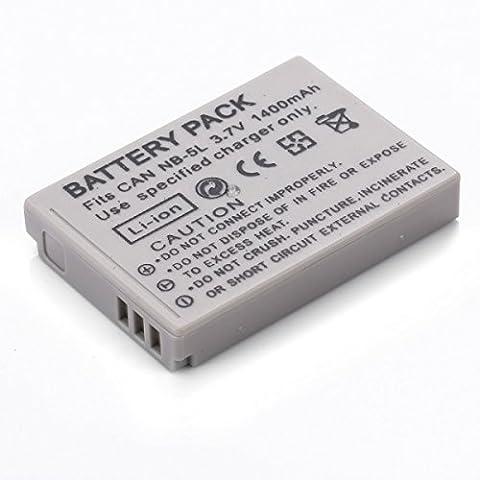 Rusty Bob - NB-5L Canon PowerShot S100 SX200 IS SX210 IS SX220 HS SX230 / Ixus 950 960 970 980 990 (qualité supérieure) - batterie seulement