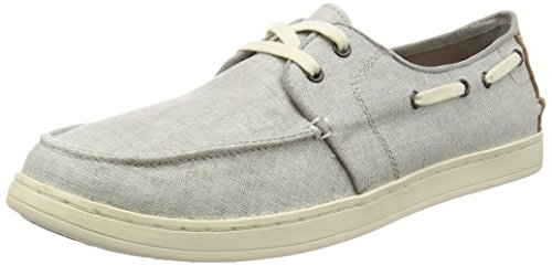 Toms Culver Coated Linen Mens Boat Shoes Light Grey - 9 UK